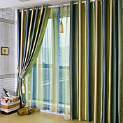 (Two Panels) Beautiful Gradients Solid Contemporary Energy Saving Curtains