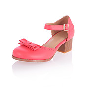 Fashion Leatherette Chunky Heel Sandals With Bowknot/Buckle Party / Evening Shoes(More Colors)