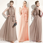 Kvinders Belted Plisseret Maxi Dress
