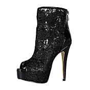 Elegant Lace Stiletto Heel Peep Toe / Sandals Ankle Boots Party / Evening Shoes