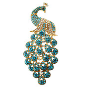 Azul pavo real broche * 1