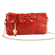 Lady Snake Skin Mønster Bow Mini Bag