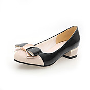 Stylish Patent Leather Low Heel Round Toe With Bowknot Party / Evening Shoes (More Colors)