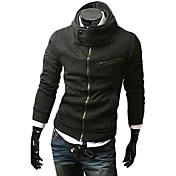 Man's Multi-Zipper Cotton Hoodie with Cap(Assorted Colors)