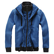 Man's Fashionable Cotton Double-Row Button Hoodie(Assorted Colors)