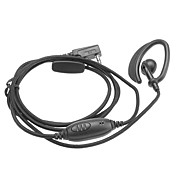 Two Way Radio Handsfree Ear Hook Microphone Earphone with Coarse intertexture wire and normal hook DQ-KCB-101