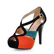 Stylish Suede Stiletto Heel Sandals With Rhinestone Party / Evening Shoes (More Colors)