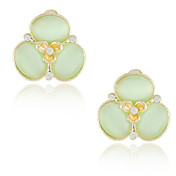 Unique Opal Alloy 18K Gold Plated Crystal Earrings More Color Available