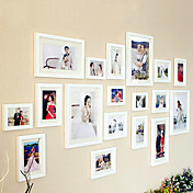 Set of 18 Fitting-life Solid Wooden Combination Photo Wall Frame