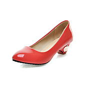 Compact Patent Leather Chunky Heel Pumps Casual Shoes(More Colors)