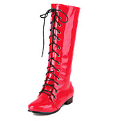 Amazing Patent Leather Flat Heel Laced-up Knee High Boots Party/Evening Shoes(More Colors)