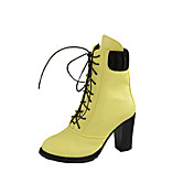 Elegant Leatherette Chunky Heel Laced-up Boots Casual Shoes(More Colors)