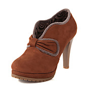 Amazing Suede Stiletto Heel Ankle Boots With Bowknot Party/Evening Shoes(More Colors)