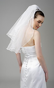 2 Layer Beautiful Elbow Wedding Veil