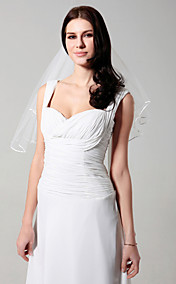Marvelous 2 Layers Elbow Wedding Veil