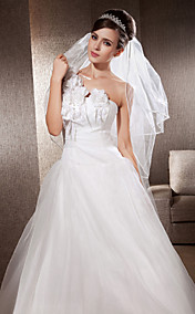 Three-tier Chapel Wedding Veils With Ribbon Edge