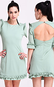 ts volant tagliato aperto-back dress