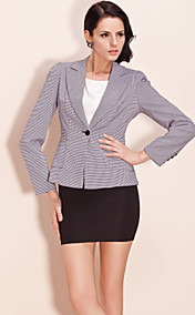 TS Houndstooth Blazer With Foldpleat Backside