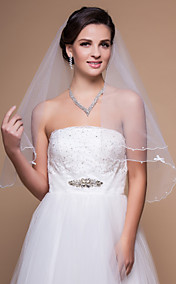 One-tier Elbow Wedding Veils With Scalloped/Pencil Edge (More Colors)