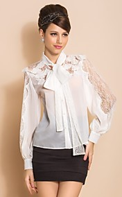 TS Lace Bow Blouse manches longues shirt