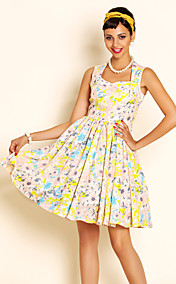 TS VINTAGE Flora Print Swing Dress