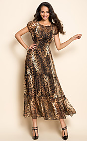 TS Leopard Print Midi Dress