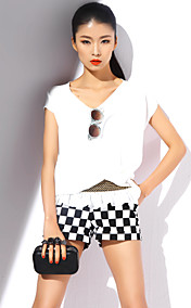 TS Elastic Waistband Short Sleeve Blouse
