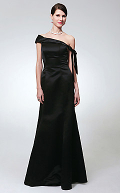 Trumpet/Mermaid Off-the-shoulder Floor-length Satin Evening Dress