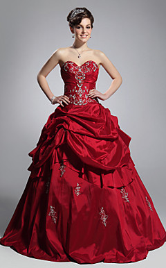 Ball Gown Sweetheart Floor-length Taffeta Evening/ Prom Dress