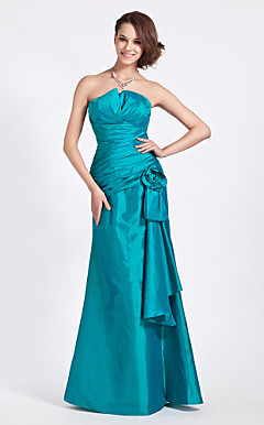 Trumpet/Mermaid Strapless Floor-length Taffeta Bridesmaid Dress