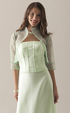 Half Sleeves Organza Special Occasion Jacket/ Wedding Wrap
