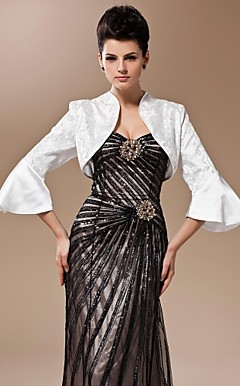 Silk And Lace Bell Sleeve Evening/Wedding Jacket