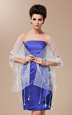 Polyester With Button and Tassels Special Occasion / Wedding Shawl (More Colors Available)