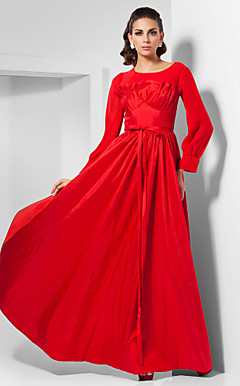 A-line Scoop Floor-length Taffeta Chiffon Evening Dress inspired by Livia Firth at Oscar