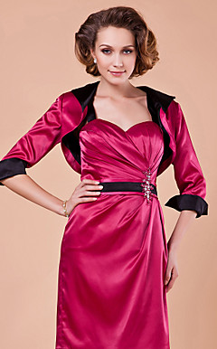 Half-Sleeve Satin Special Occasion Jacket/Wedding Wrap(More Colors)