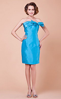 Sheath/Column Knee-length Taffeta Mother Of The Bride Dress