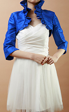 Stunning Half-Sleeve Taffeta Wedding/Evening Jacket/Wrap (More Colors)