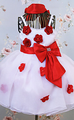 Lovely Sleeveless Satin And Tulle Wedding/Evening Flower Girl Dress
