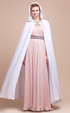Extra Long Sleeveless Double Layers Chiffon Wedding/Evening Hood/Poncho (More Colors)