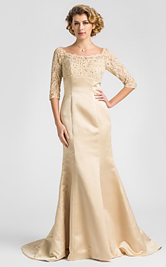 CANICE - Kleid fr die Brautmutter aus Satin und Spitze