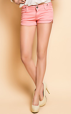 TS Garment Wash Pink Denim Shorts