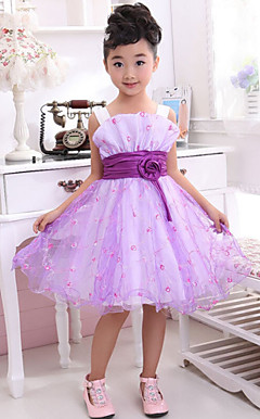 Beautiful Sleeveless Polyester/Tulle Wedding/Evening Flower Girl Dress