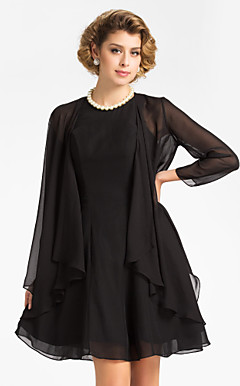 3/4 Sleeve Chiffon Evening/Wedding Wrap/Jacket (More Colors)