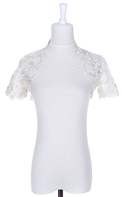 Short Sleeve Lace Evening/Casual Wrap/Jacket