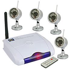 venta al por mayor 2,4 GHz de cuatro canales a distancia inalámbrico con receptor inalámbrico 4x cámara de visión nocturna (szq351)