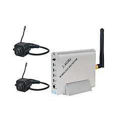 venta al por mayor 2,4 GHz de cuatro canales con receptor inalámbrico 2x alfiler cámara inalámbrica (szq365)