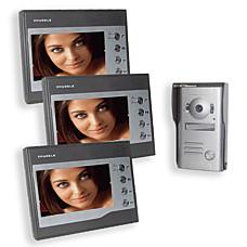 """venta al por mayor 3x 7 """"TFT LCD a color de receptores de vídeo portero automático con cámara CCD (tra148)"""