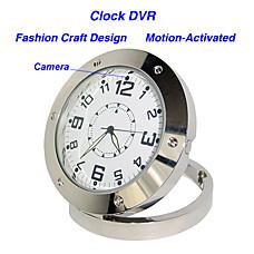 venta al por mayor 640 * 480 estilo reloj grabadora de video digital DVR activada por movimiento de cámara oculta de color del agujero de alfiler (qw114)