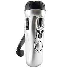 venta al por mayor cerrar llevado linterna con alarma cargador de teléfono celular y de radio (se026)