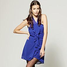 venta al por mayor frente vestido strapless volantes / vestidos de mujer (FF-0859-1802be101)